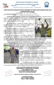 Boletín - Liberación de Abel Jimenez- 16 julio 2016