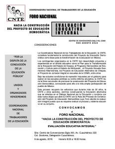 Convocatoria para el Foro Nacional(1:2)