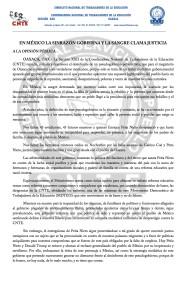 Boletín - EN MEXICO LA SINRAZON GOBIERNA Y LA SANGRE CLAMA JUSTICIA - 01 septiembre 2016(1:2)