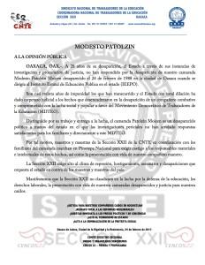 Boletín - MODESTO PATOLZIN - 24 febrero 2017