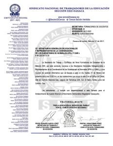 Convocatoria reunión de información Formadores de Docentes 21 febrero 2017