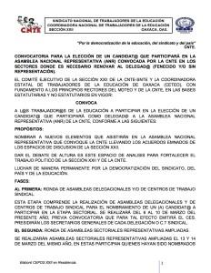 Convocatoria para la elección de un candidato ANERRISTA marzo 2017