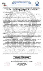 Boletín - CASO ROQUE COCA - 4 mayo 2017