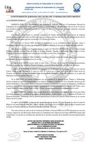Boletín CONTUNDENTE JORNADA DE LUCHA DE 72 HRS DE ESTE MDTEO