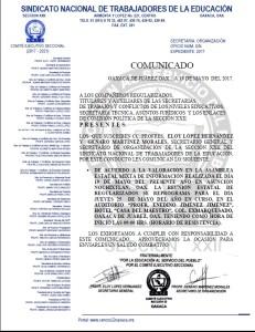 COMUNICADO A LOS COMPAÑEROS REGULARIZADOS 19 MAYO 2017