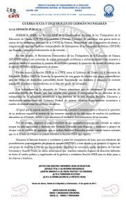 Boletín- GUERRA SUCIA Y ESQUIROLES DE GERMAN NO PASARAN - 14 agosto 2017