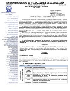 Convocatoria para la inscripción del colectivo y proyecto escolar PRETEO noviembre 2017 completo