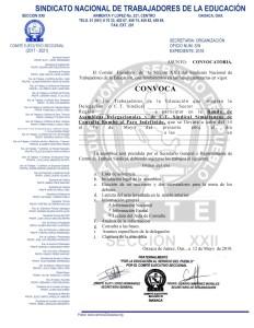 Convocatoria para la Ronda de Asambleas Delegacionales del 14 al 16 de mayo de 2018