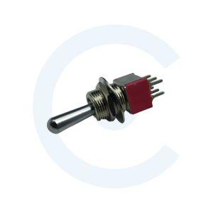 003015007 Conmutador de palanca DPDT ON-OFF 5A - Cenel Europe slu - Electronic Components