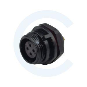 003011611 Conector Circular SP13 4 pines Hembra para panel SP13 - WEIPU SP1310 _ S4IN - Cenel Europe Slu. - Tienda online de repuestos y material electrónico