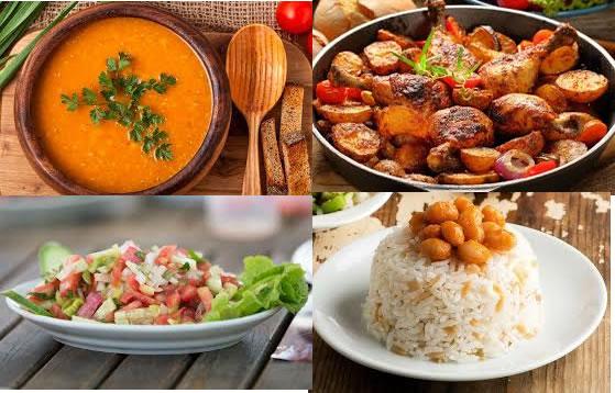 Ramazan Menüsü, Ramazan 15. Gün Menüsü, Kırmızı mercimek corbasi, Firinda Tavuk,Pirinç pilavi, çoban salatası