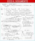 Appunti di Antonio Vercesi, funzionario della ditta lombarda Ecodeco srl