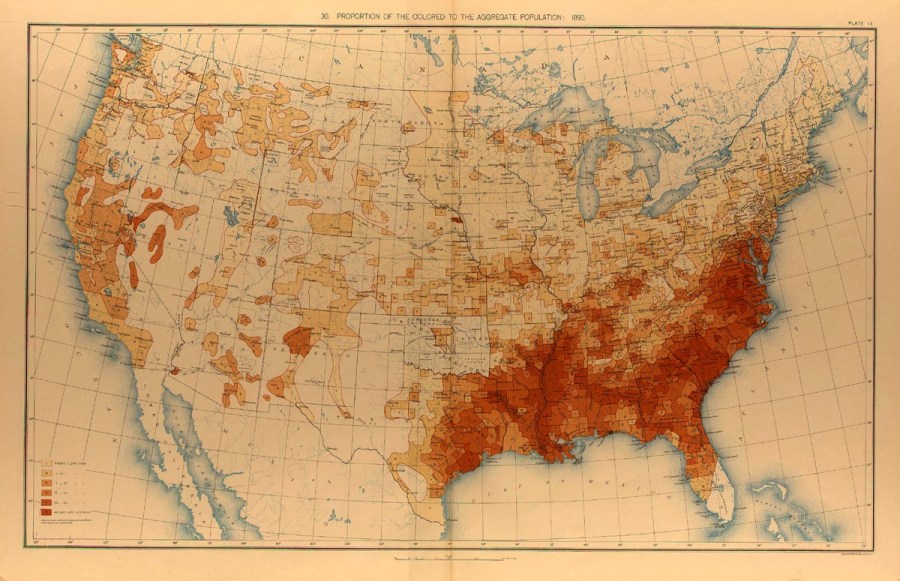 1890 Population Distribution   History   U S  Census Bureau 1890 Black Population Map