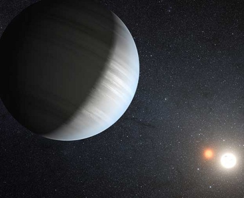 Planet in a Quadruple Star System
