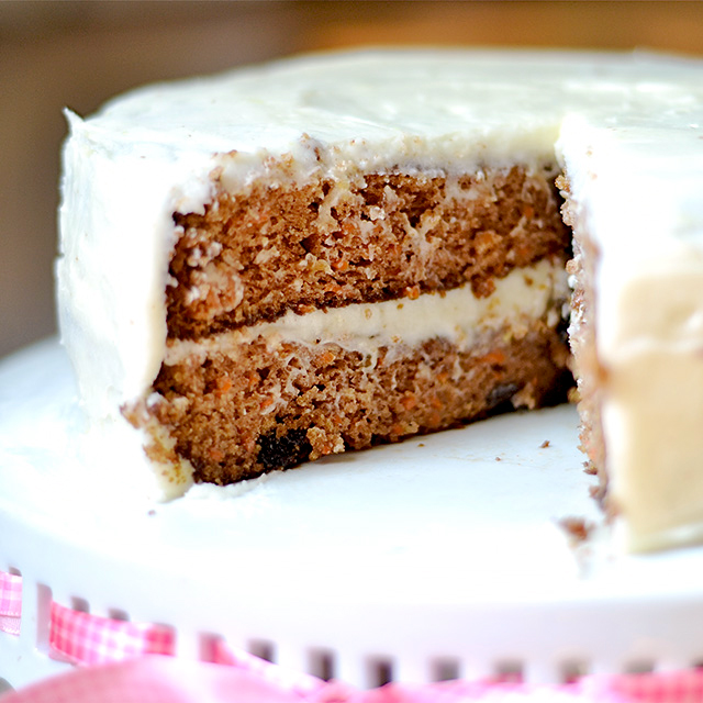Carrot Cake with Lemon Cream Cheese Frosting Recipe carrot cake lemon cream cheese frosting 3