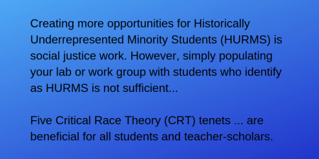 Using Critical Race Theory To Craft Undergraduate Research Experiences -  Center For Engaged Learning