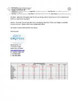 StemExpress Procurement Schedule