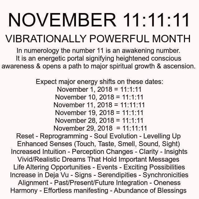 De maand November