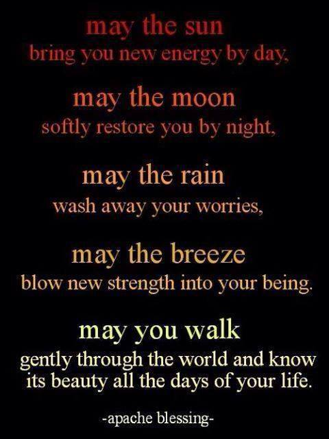 Apache blessing.