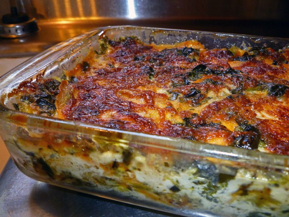 Sweet Potato Spinach Dauphinoise