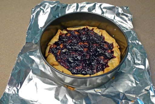 Rustic Marionberry Tart In Ring