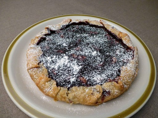 Rustic Marionberry Tart Whole Powedered Sugar