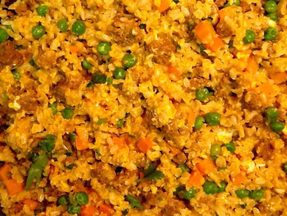 Taco meat fried rice