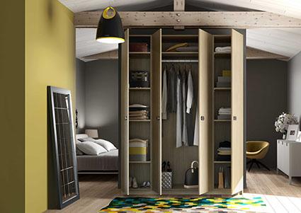 armoire penderie avec 4 portes battantes