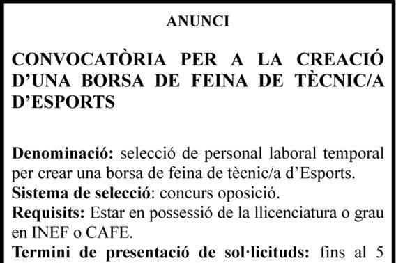 Oferta De Feina A L'Ajuntament De Manacor