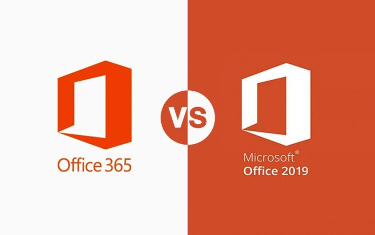 difference between Office 365 and Office 2019