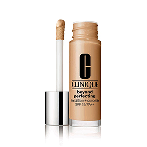 CLINIQUE รองพื้นและคอนซีลเลอร์ Beyond Perfecting Foundation + Concealer SPF 19-PA++ #62 Rose Beige 30 ml.
