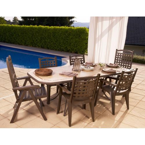grosfillex salon de jardin amalfi bronze 4 fauteuils bronze 2