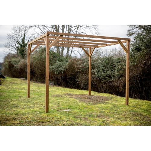 habrita pergola thonon en bois thermo chauffe sans couverture 8 88 m