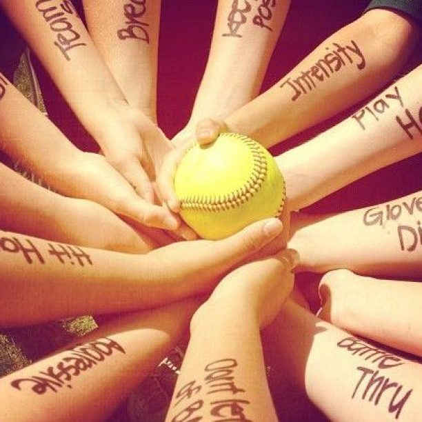 Softball Teamwork