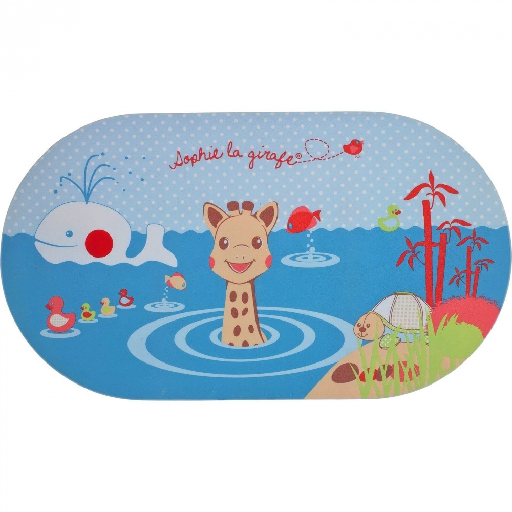 tapis de bain avec indicateur de temperature sophie la girafe
