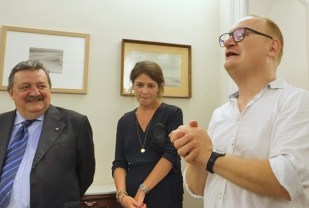 Da sinistra a destra: Giuseppe Trincucci, Alessia Venditti e Marcello Sparaventi