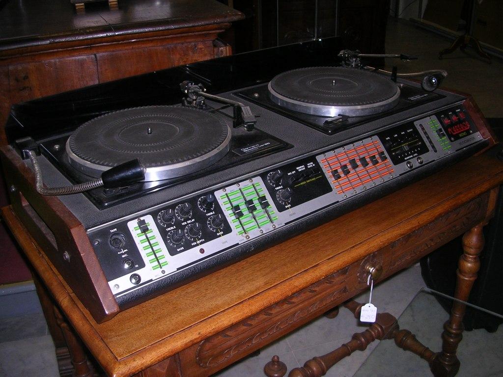 console vintage dischi vinile