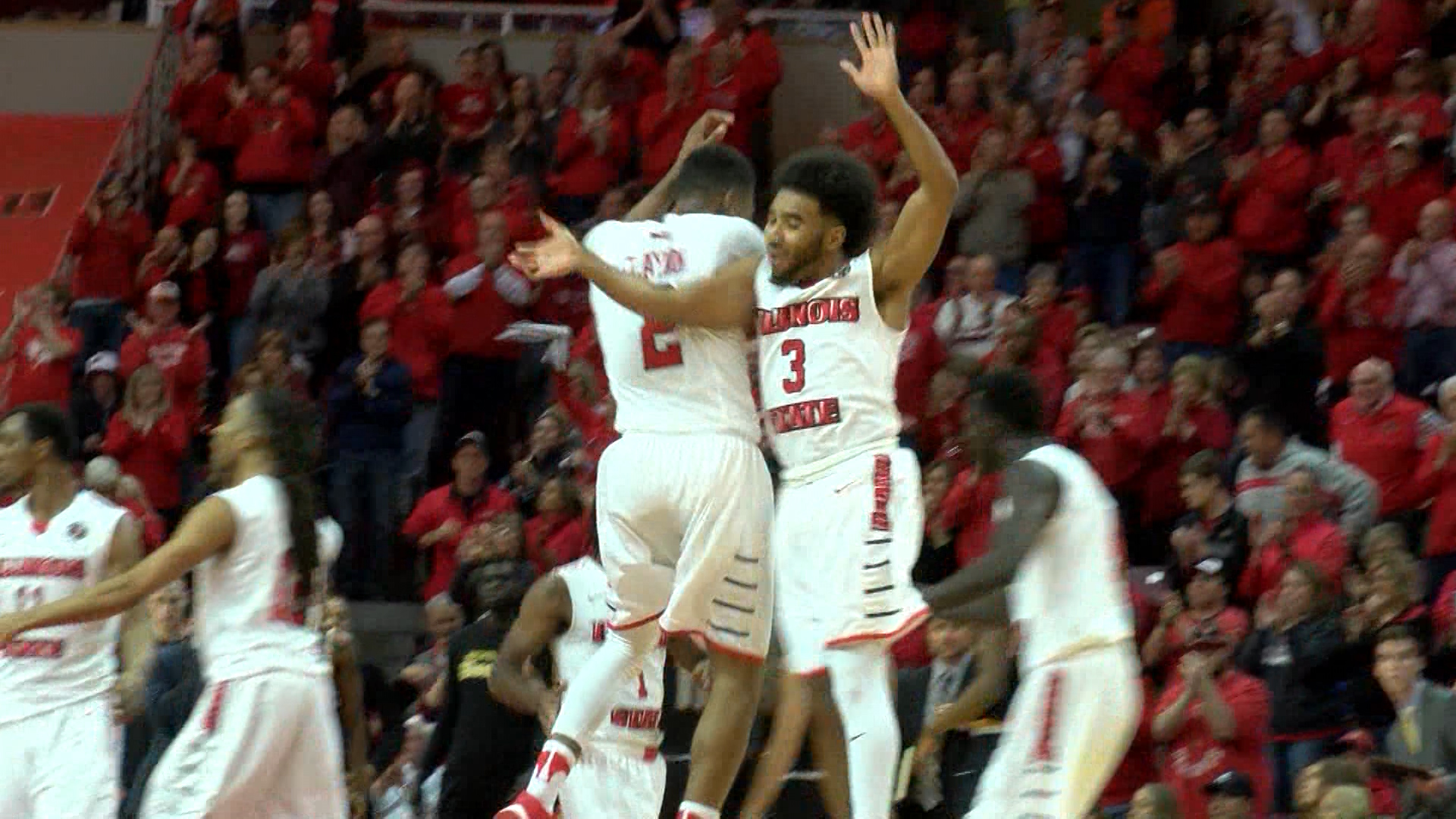 ISU celebrates win over Wichita