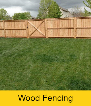 Wood privacy fence with top cap