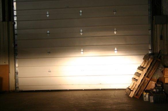 Two sealed beam lights high beam