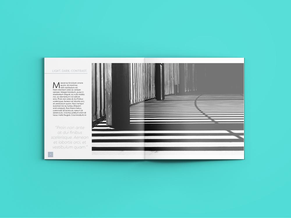 Vertical spread architecture magazine Design services