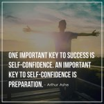 One important key to success is self-confidence. An important key to self-confidence is preparation.