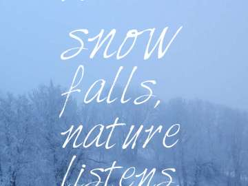 When snow falls, nature listens.