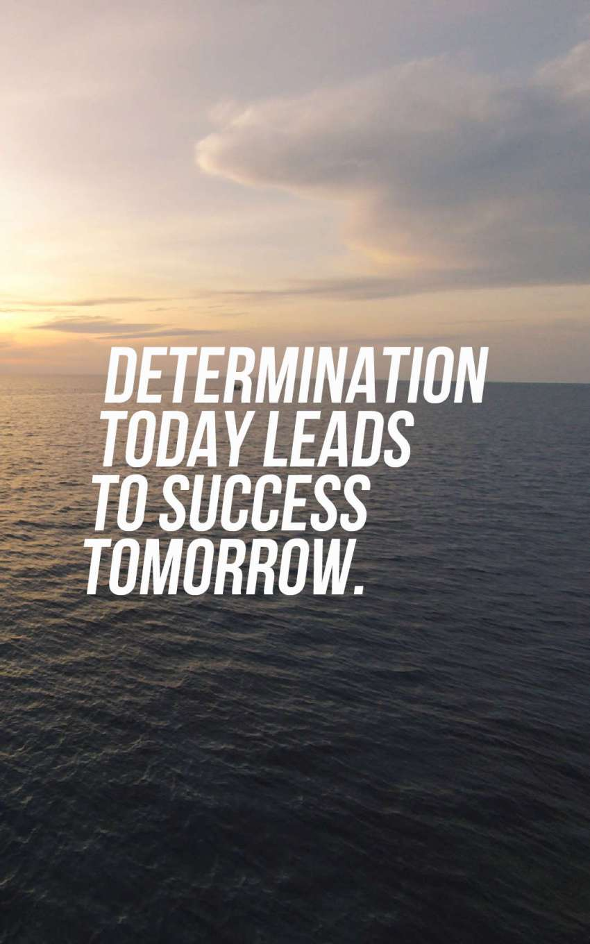 Your failure does not define you, your determination does.