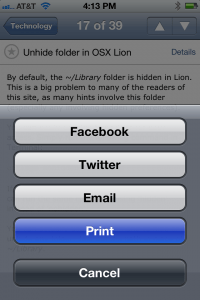 iPhone Printing Example