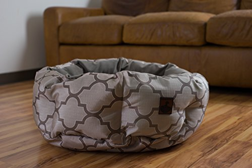 round indestructible dog bed