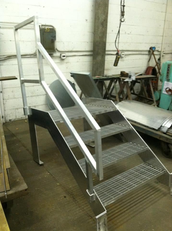 Alluminum Stairs Central Sheet Metal Fabricators Inc | Removable Handrail For Stairs