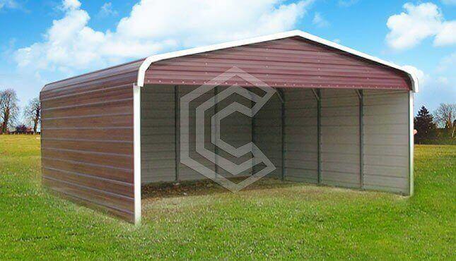 40x30x12 Clear Span Commercial Carport Carports Steel