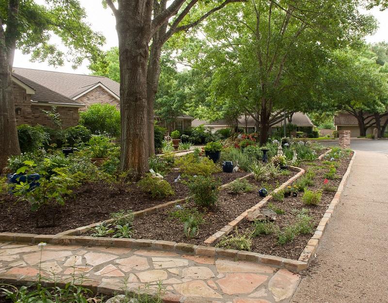 Front yard makeover no grass: Doris Reagan | Central Texas ... on No Grass Backyard  id=84430