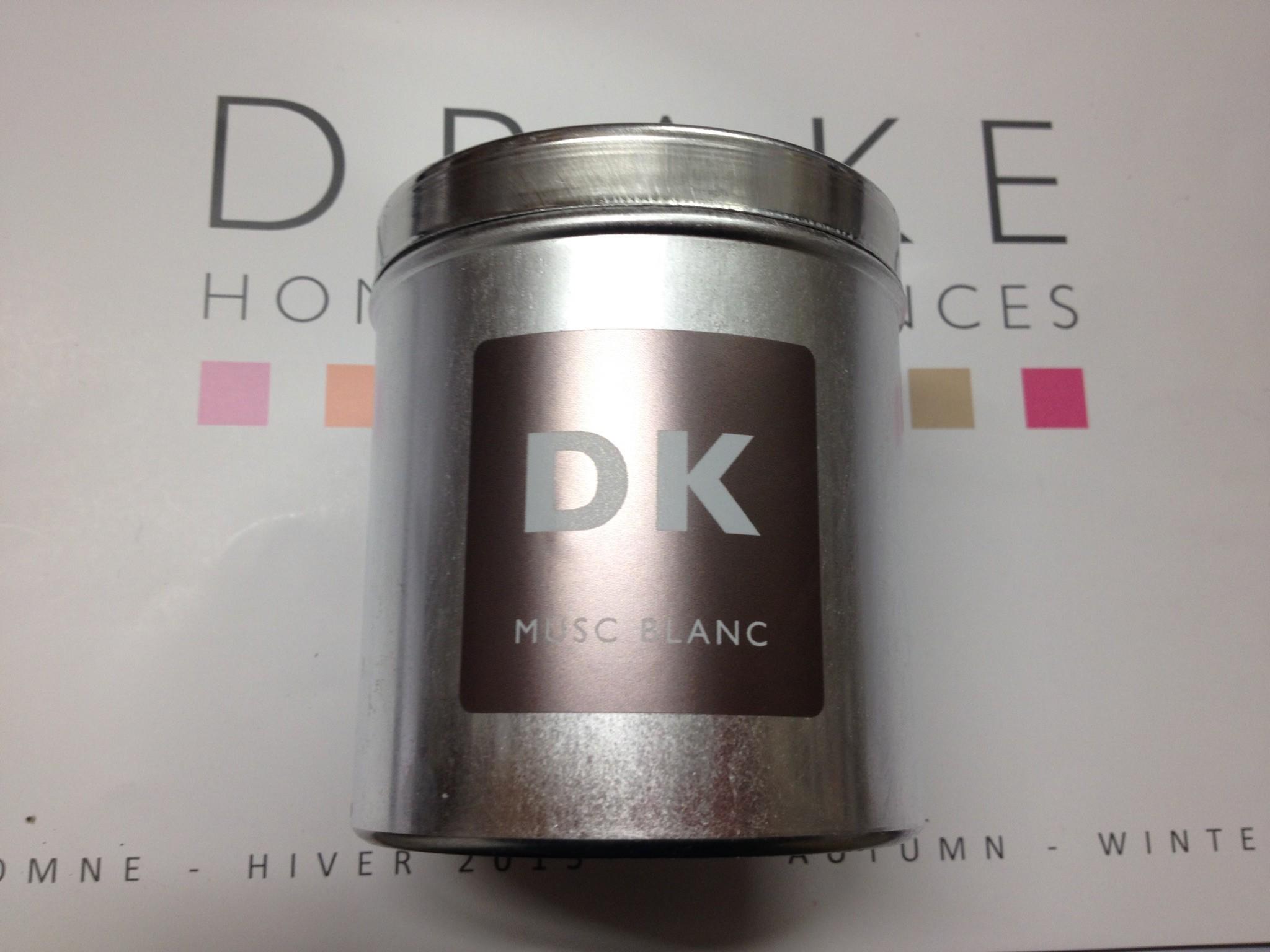 bougie parfumee boite metal musc blanc drake